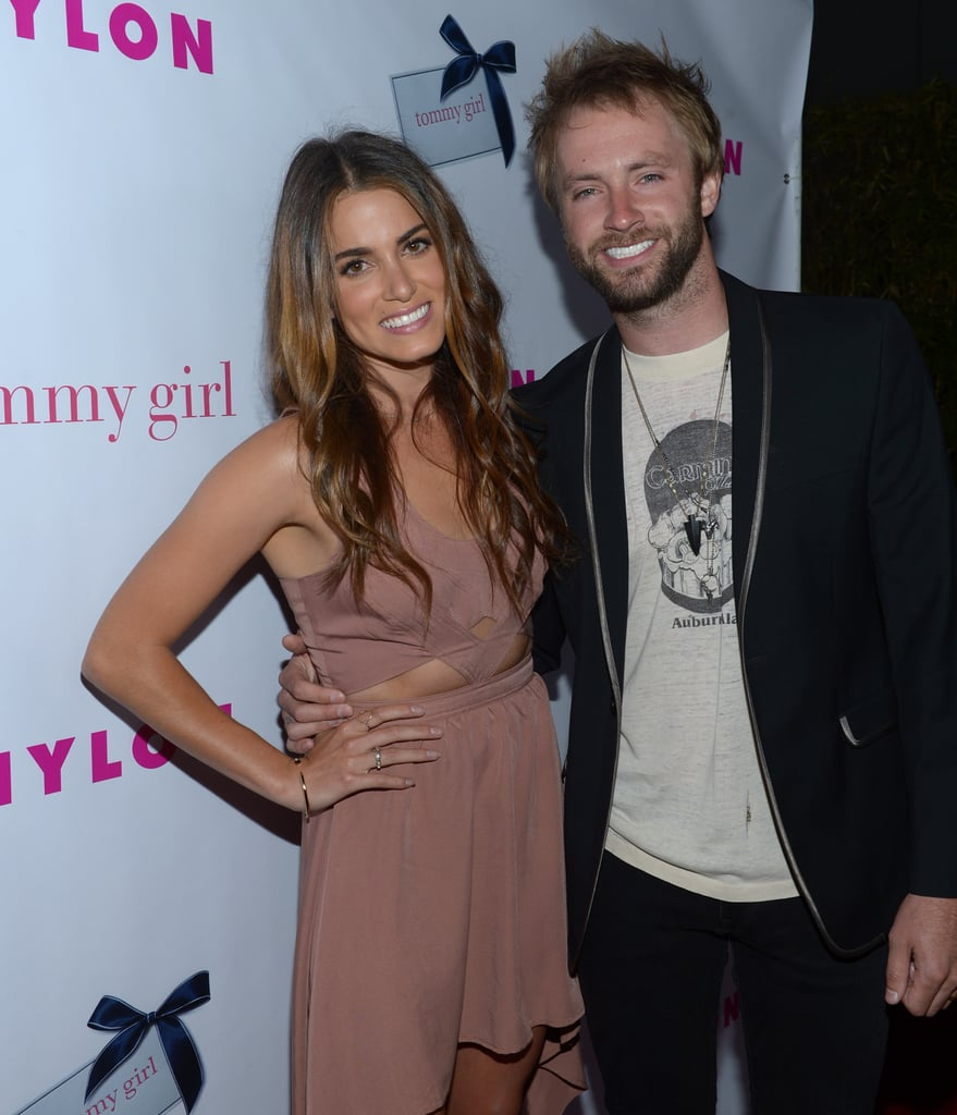 Nikkie Reed and Paul McDonald posed together before going inside to the party.
