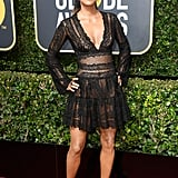 Halle Berry Wearing Black Dress at 2018 Golden Globes