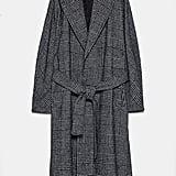 Zara Belted Plaid Coat