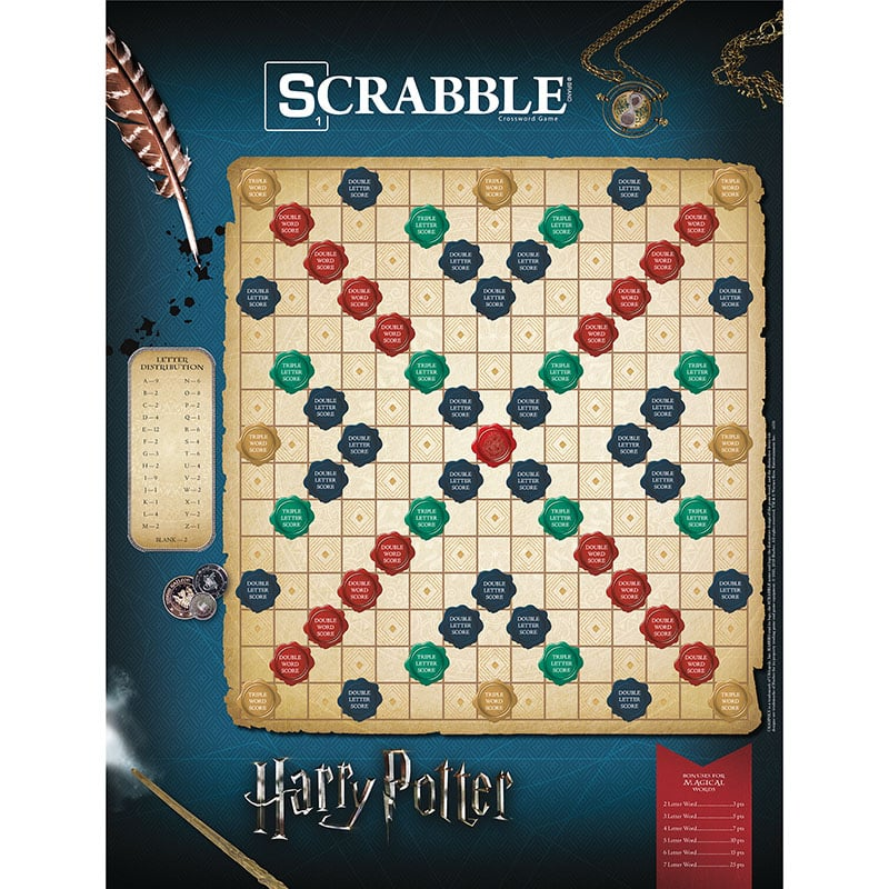The Scrabble: World of Harry Potter Game Board
