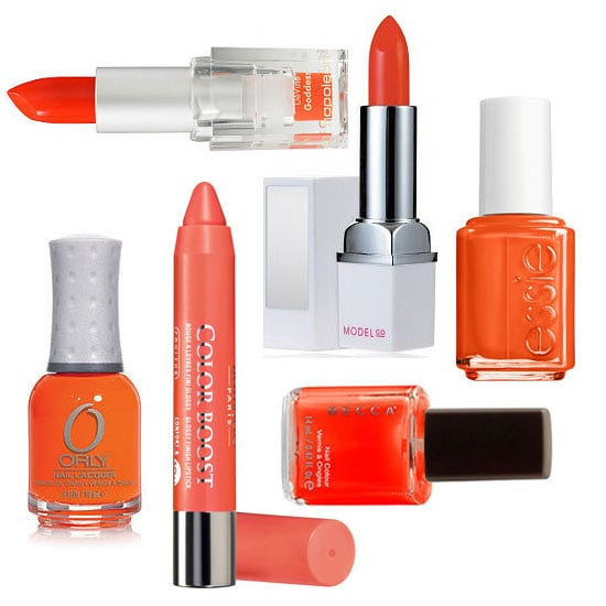 Orange Lipstick and Orange Nail Polish for Halloween