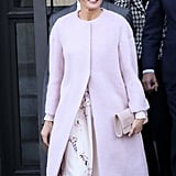 Queen Letizia's Pink Bird-Print Dress From ASOS
