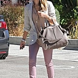 Jessica Alba looked cute and casual as she ran errands.