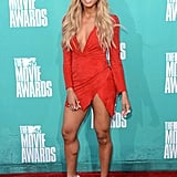 Ciara wore red for the 2012 MTV Movie Awards.