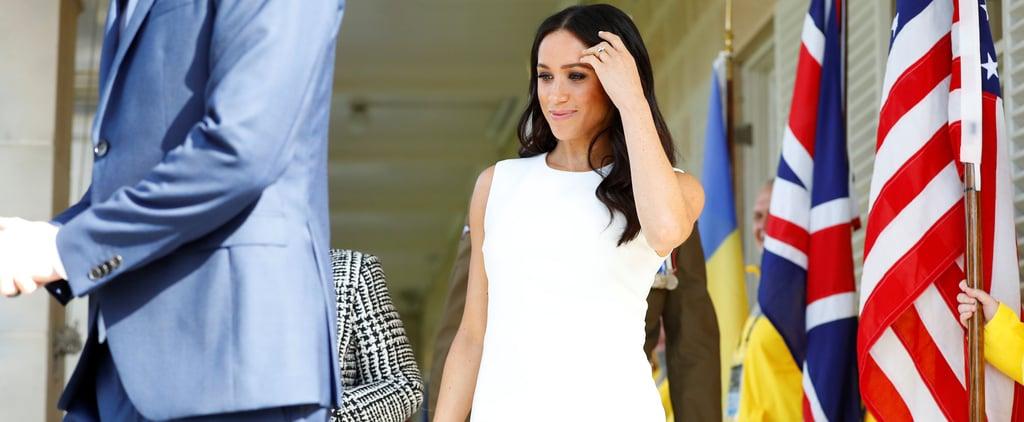 Meghan Markle Karen Gee White Dress Australia October 2018