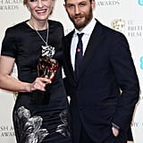 With Cate Blanchett at the BAFTAs in 2014.