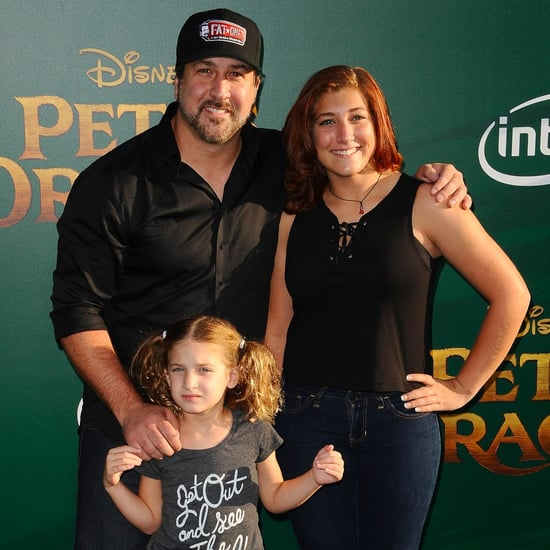 Joey Fatone With His Daughters at Pete's Dragon Premiere