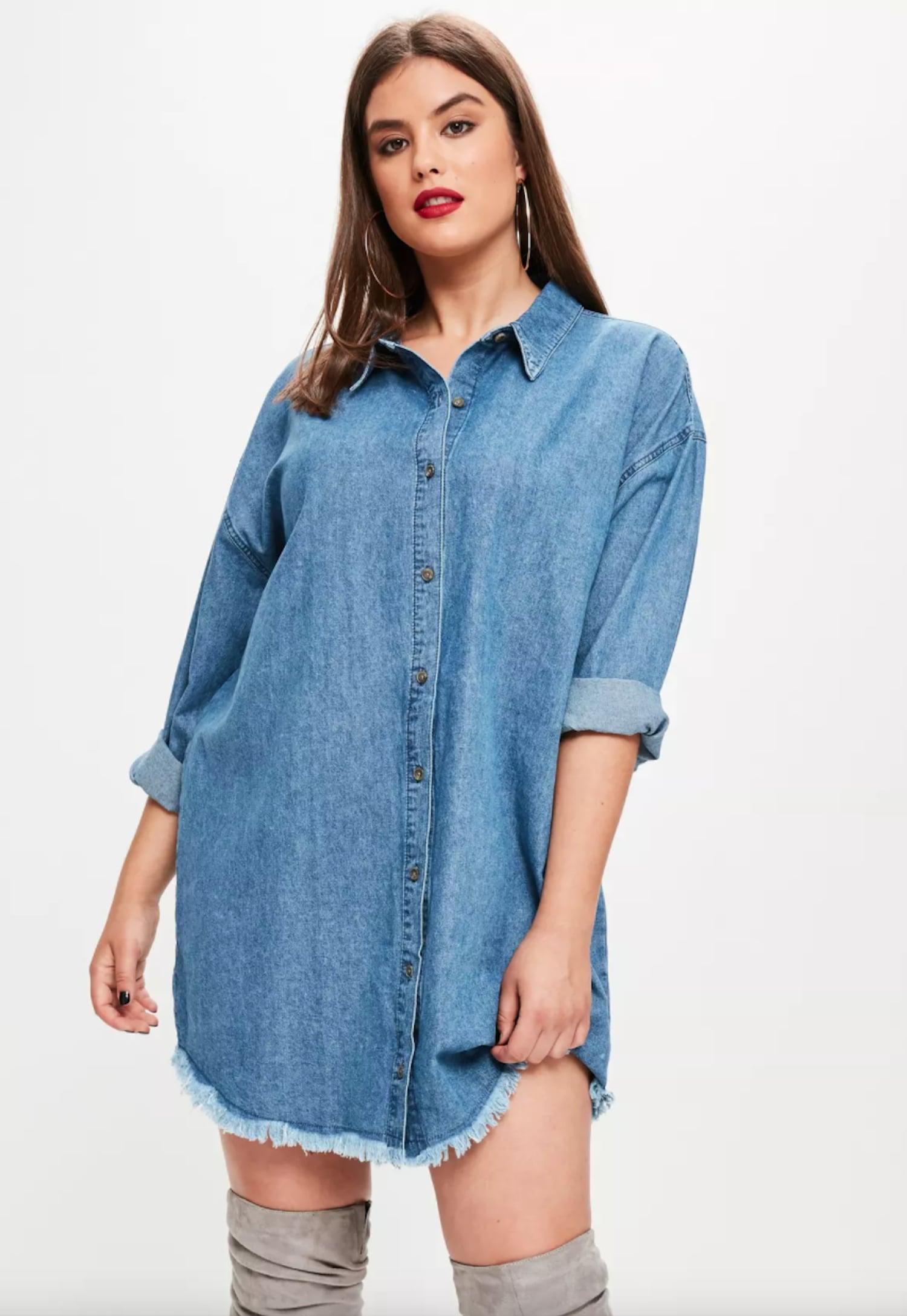 Missguided Plus Size Oversized Denim Shirt Dress | 36 ...