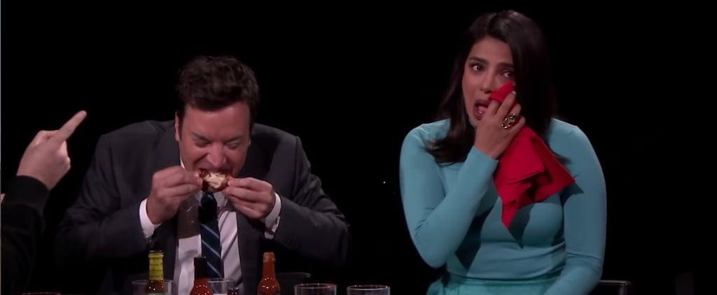 Priyanka Chopra Eats Hot Wings on The Tonight Show Video