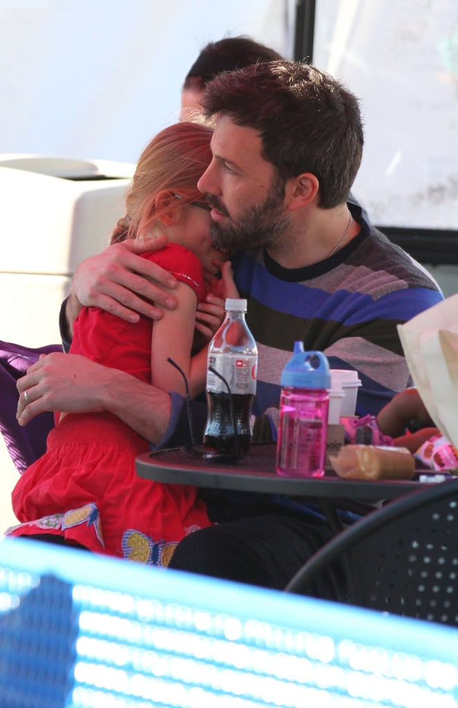 Ben Affleck hugged Violet.