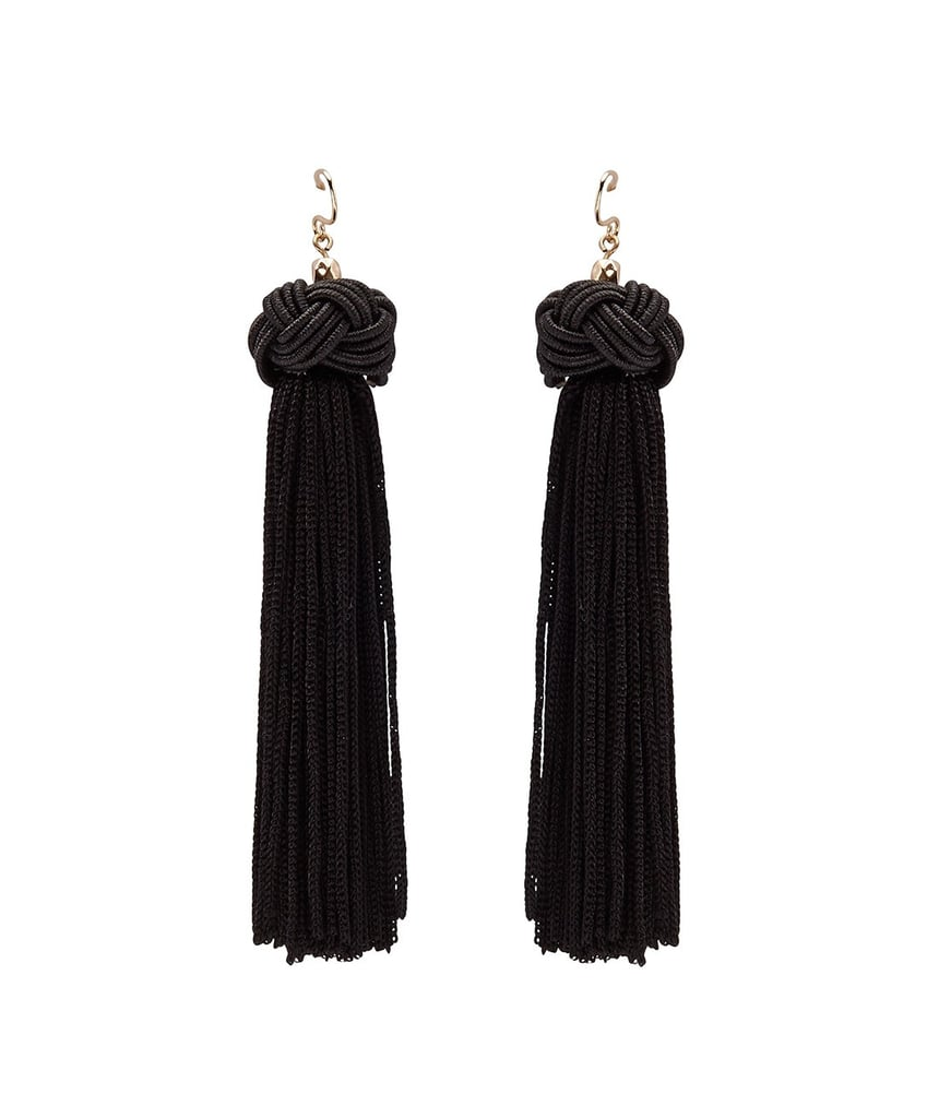 Black Knot Tassel Dangle, $16.95