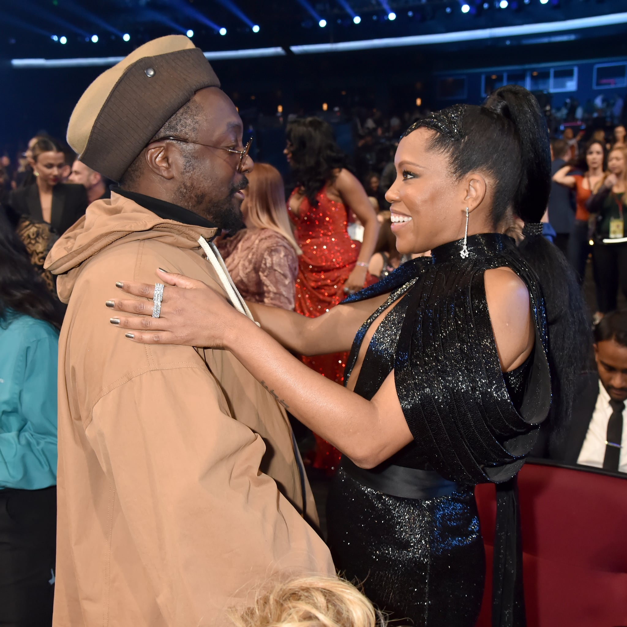 Will I Am And Regina King At The 2019 American Music Awards Get A Front Row Seat To The 2019 Amas With These 115 Dazzling Photos Popsugar Celebrity Photo 57