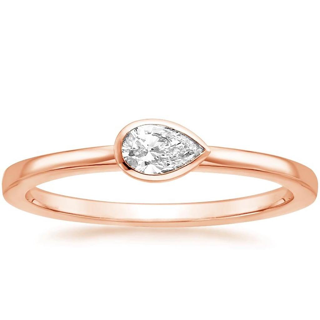 Brilliant Earth Pear Bezel Diamond Ring