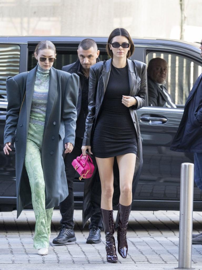 Gigi Hadid and Kendall Jenner at Milan Fashion Week