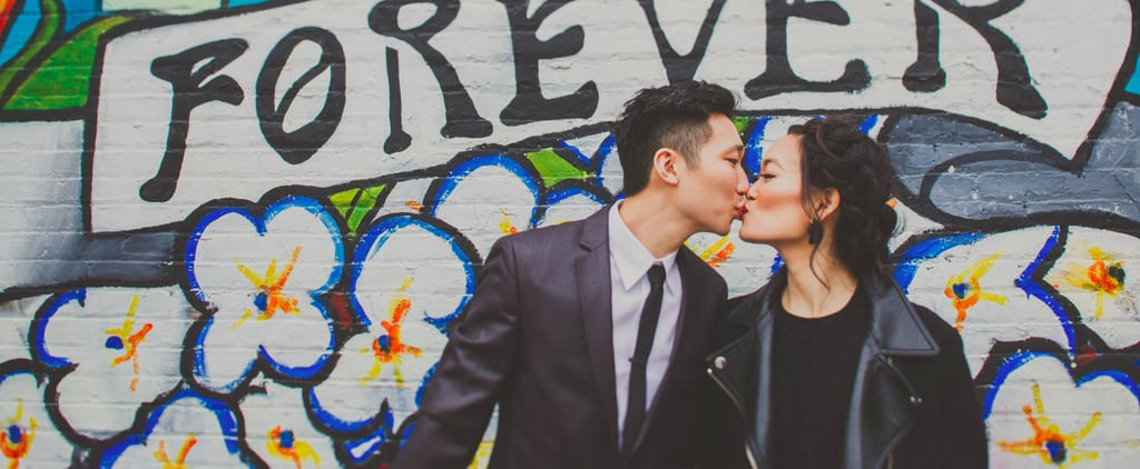 We're Obsessed With This Couple's Cute and Casual Engagement Shoot in Downtown LA