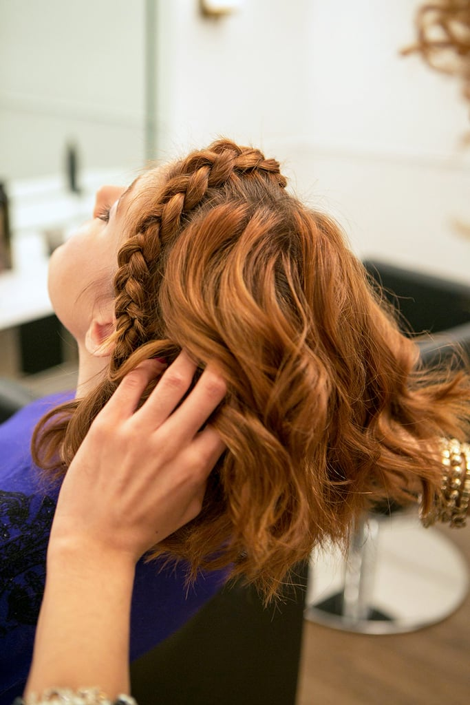 Once you've finished curling your entire head, run your fingers through your hair to break up any signs of a part along the crown. You can add in a mist of Oribe Dry Texture Spray ($42) for added lift. Source: Caroline Voagen Nelson