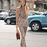 Anna Dello Russo outside the Trussardi Men's Spring 2013 show in Milan.