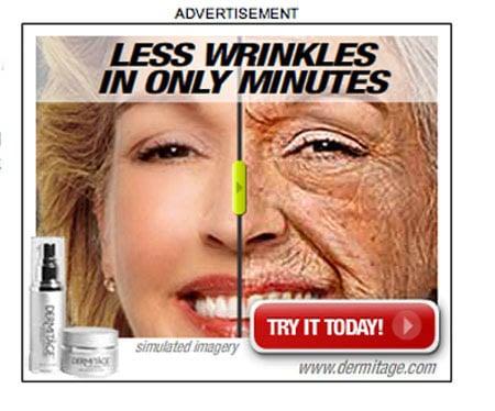 Crazy Dermitage Ad