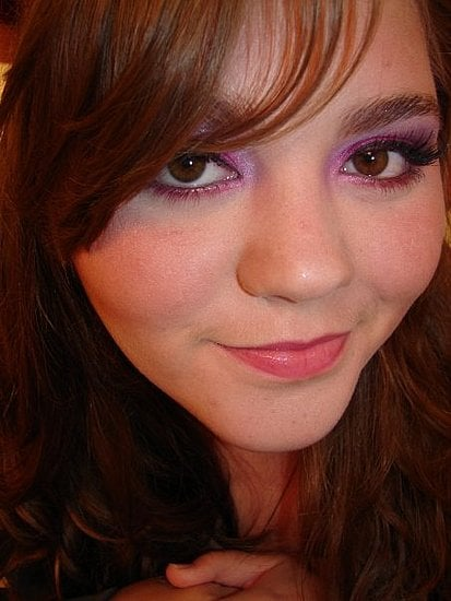 A Bold Purple and Fuschia Look for Nighttime