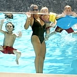 Lynne Spears, Sean Preston Federline, Jayden James Federline and Maddie Aldridge shared some time in the pool.