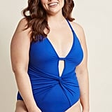 ModCloth Twist Come True One Piece Swimsuit in Cobalt