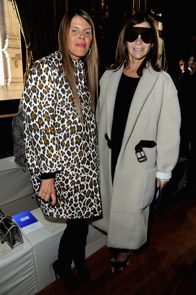 Anna Dello Russo and Carine Roitfeld met up at Stella McCartney.