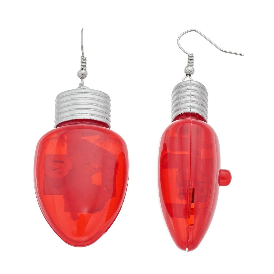 Nothing screams the holidays like a pair of bright light bulb earrings ($12).