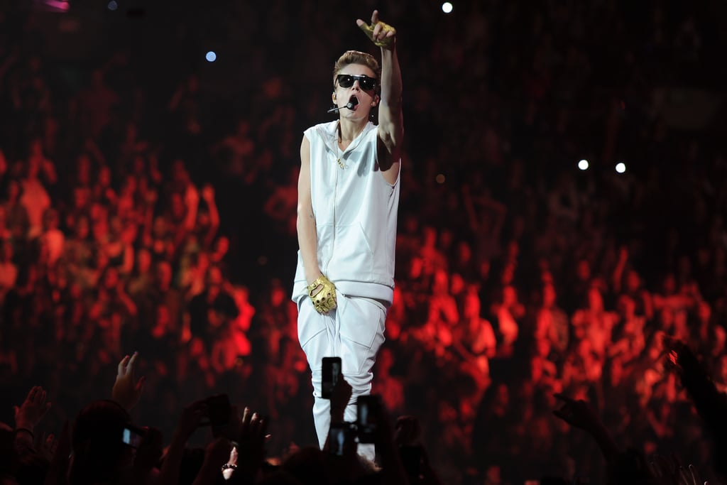 Justin Bieber had a concert in Boston.