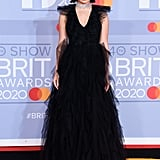 Charli XCX on the 2020 BRIT Awards Red Carpet