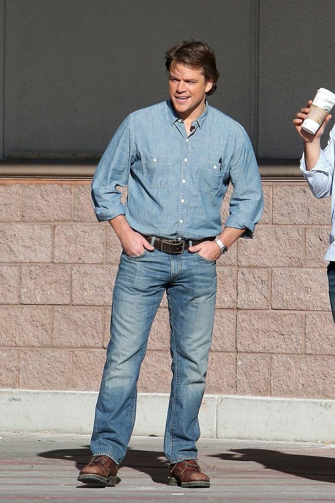 Matt Damon Heads Back to Work Following a Fun Family Weekend