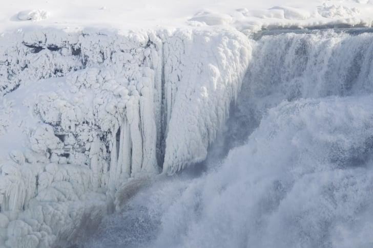 Frozen Niagara Falls Photos Popsugar News