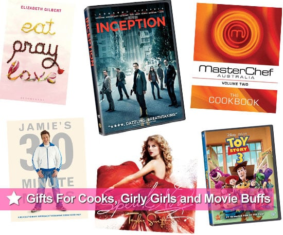 Christmas Present and Gift Ideas Including Cookbooks, Girly Books and Music, and Crowd-Pleasing DVDs