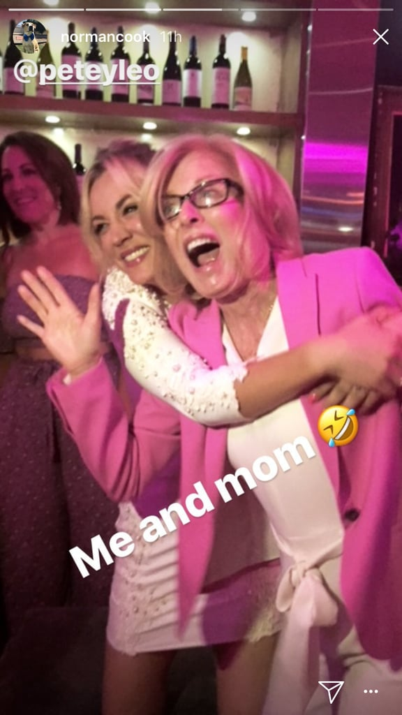 "Kaley Cuoco is celebrating her last days as a single woman. On Saturday, the Big Bang Theory actress danced the night away at a bar with family and friends at her pink paradise-themed bachelorette party, and we're low-key jealous our invites got lost in the mail. The venue was adorned with pink balloons and streamers as guests broke out their best dance moves to classic songs from the early 2000s, including Kelis's ""Milkshake,"" Britney Spears's ""I'm a Slave 4 U,"" Gwen Stefani's ""Hollaback Girl,"" and Beyoncé's ""Crazy in Love,"" to name a few. Kaley, who got engaged to her boyfriend-turned-fiancé Karl Cook last year, wore a white long-sleeved minidress while her attendees, including her mom, Layne Cuoco and sister, Briana Cuoco, showed up in pops of pink. ""I'm getting married in white,"" the 32-year-old teased hours before the event in an Instagram video shared by her makeup artist. No word yet on when the happy couple's nuptials will take place, but until then, scroll through to see more photos from Kaley's bachelorette party, which she called ""the most magical night ever."""