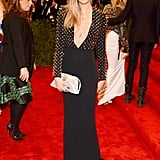 Cara Delevingne wore custom Burberry to the 2013 Met Gala.