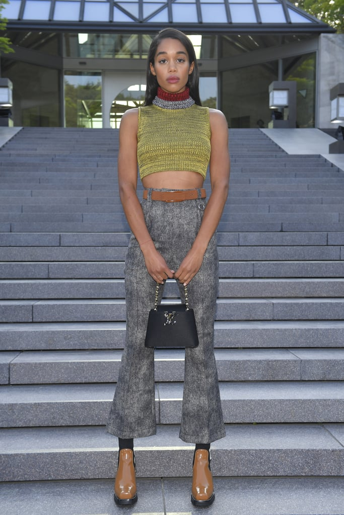 Wearing head-to-toe Louis Vuitton at the brand's Resort 2018 show in Japan.