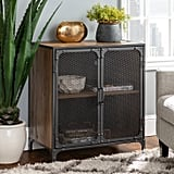 Industrial Accent Cabinet With Mesh