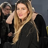 With seriously chic ombré hair, Gisele walked in designer tAlexander Wang's Fall 2012 show at New York Fashion Week.