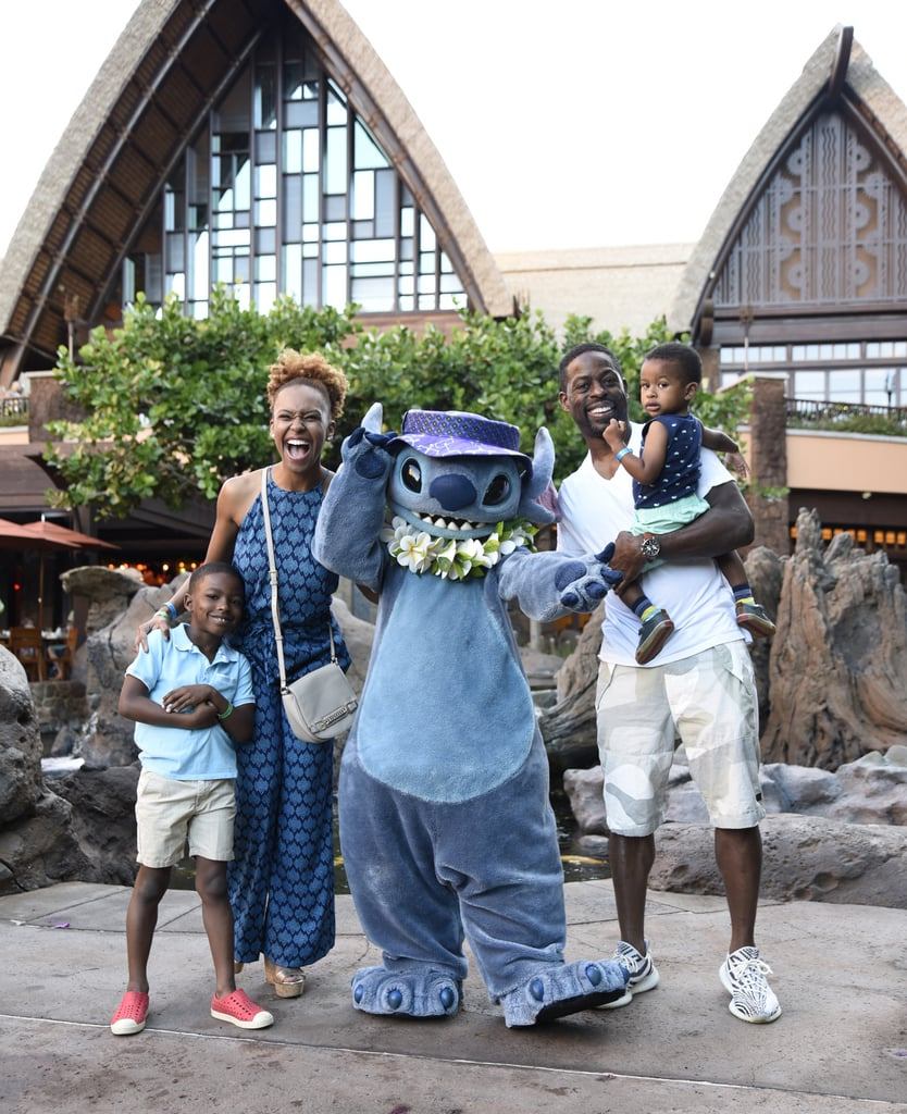 The holidays are all about spending quality time with your loved ones, and nobody seems to be having more fun than Sterling K. Brown. The This Is Us actor is currently enjoying a family vacation in Hawaii with his wife, Ryan Michelle Bathe, and their two sons, Andrew and Amaré, and on Wednesday, the brood was photographed having a blast with Lilo & Stitch's very own Stitch at Disney's Aulani resort. Sterling and his family posed for some cute photos with the blue koala, and Sterling was even able to get a selfie with him. Hopefully he'll post it on Instagram soon!      Related:                                                                                                           Sterling K. Brown and Sarah Paulson's Friendship Is So Beautiful, It Should Be a Crime