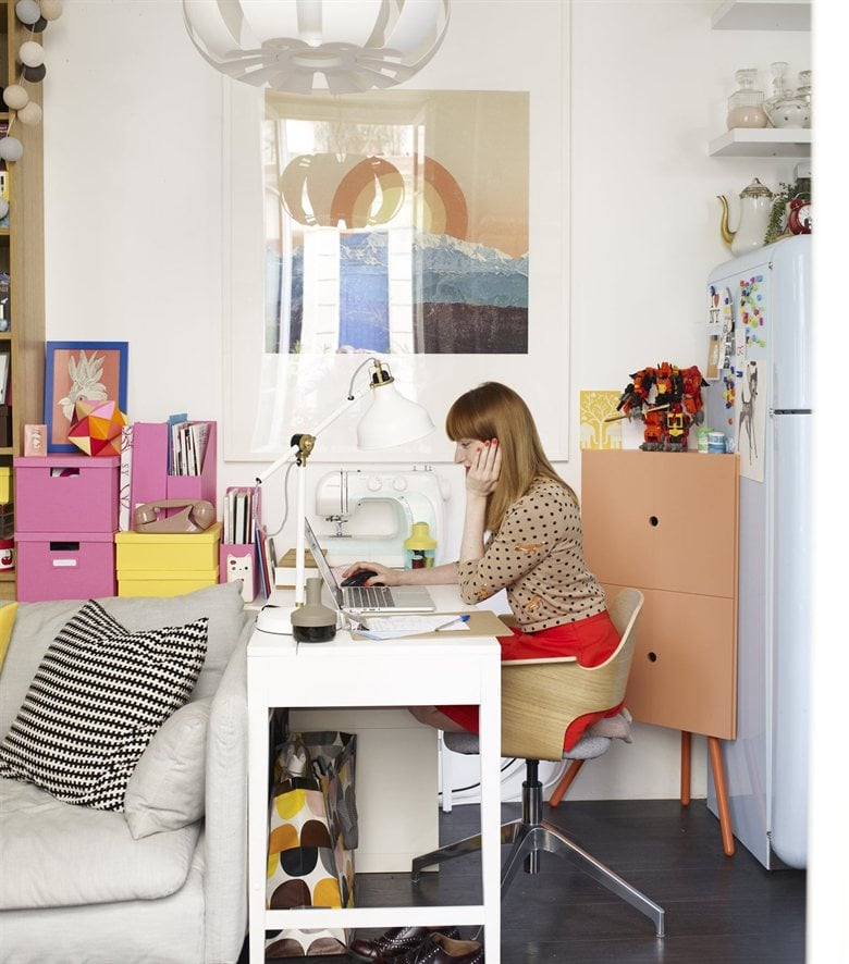 Small-space office solutions from Ikea, like the corner cabinet ...
