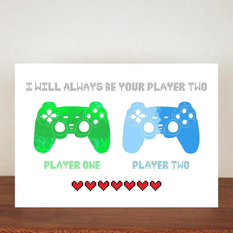 Gamer Valentine's Day Card