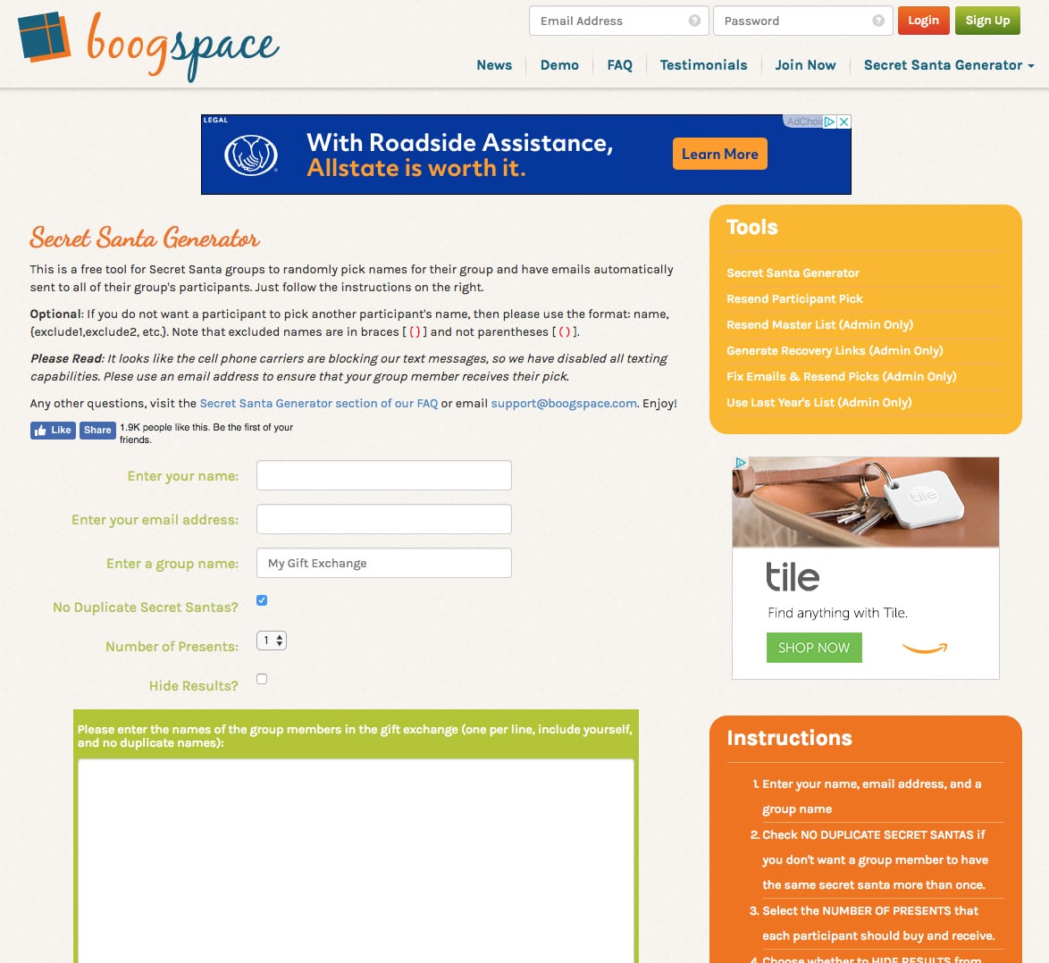 Secret Santa Random Name Generator | Shh! 5 Websites to