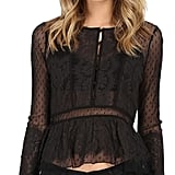 Free People Dot Mesh Penelope Peplum ($98)