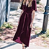R.Vivimos Velvet Wrap Dress