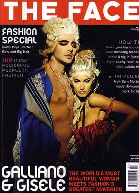 March 2004: John Galliano and Gisele Bundchen