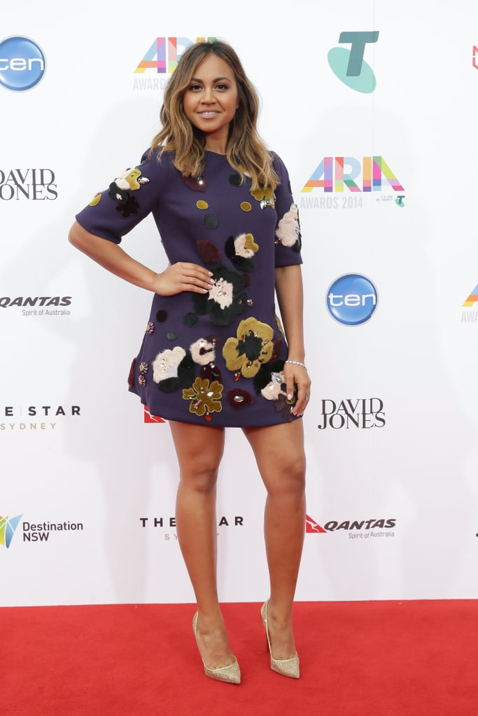 Jessica Mauboy in Dolce & Gabbana at the 2014 Annual ARIA Awards 2014