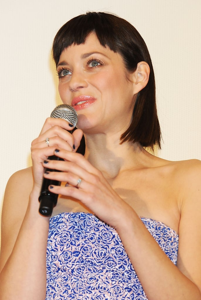 Marion Cotillard spoke at the premiere of Rust and Bone in Tokyo.