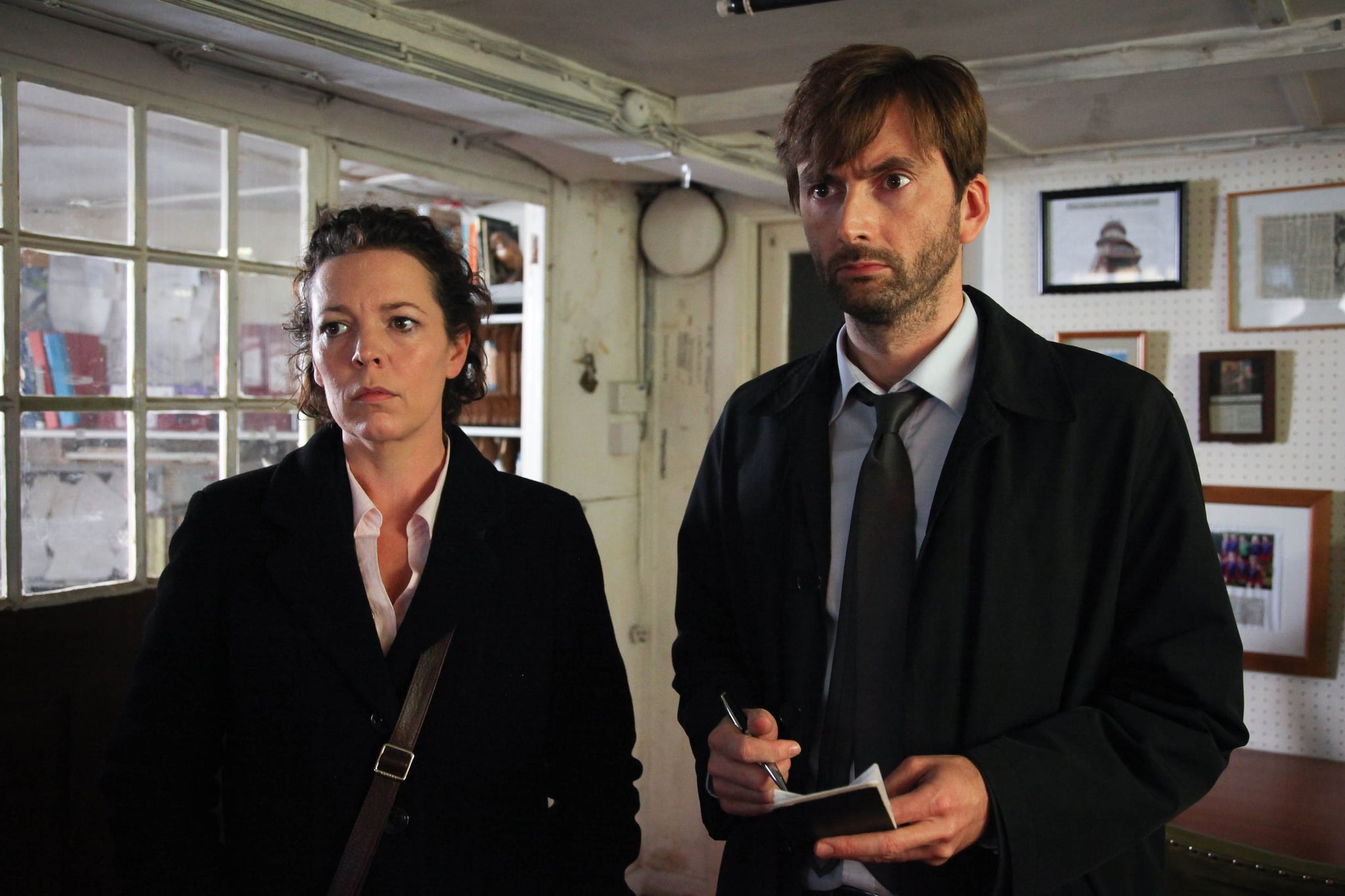 BROADCHURCH, (from left): Olivia Colman, David Tennant, (Season 1, ep. 106, aired April 8, 2013 in UK/aired Sept. 11, 2013 in U.S.). photo: Patrick Redmond /  ITV/BBC America / Courtesy: Everett Collection
