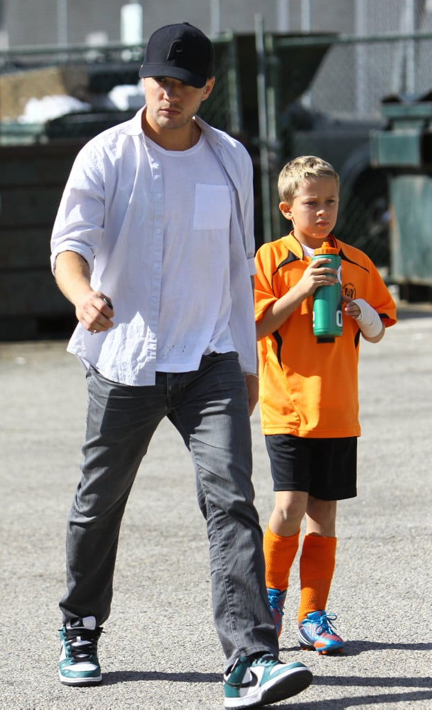 Ryan Phillippe arrived at the game with Deacon.