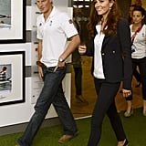 Kate's Olympics wardrobe has got a lot of wear out of those wedges and that blazer.