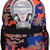 Camo Backpack & Headphones Set